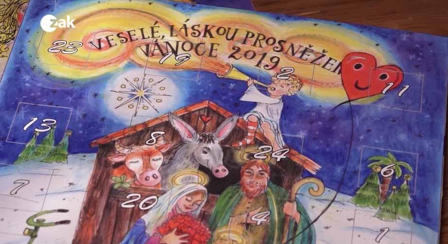 Nadílka kalendářů v Karlových Varech